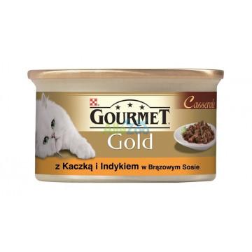 GOURMET KOT GOLD KACZKA-INDYK